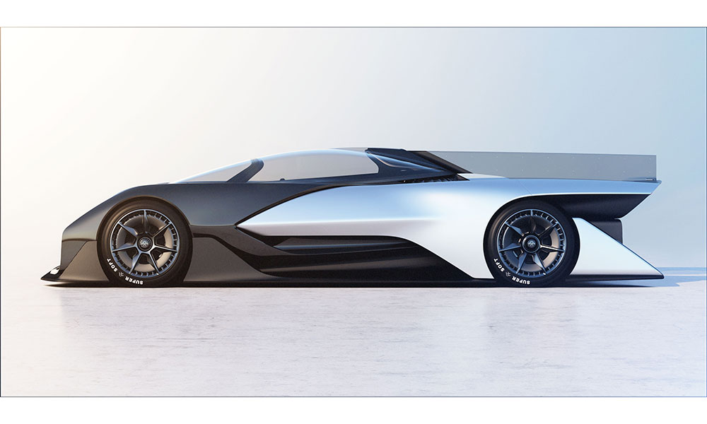 faraday future ffzero1 1000 chevaux lectriques. Black Bedroom Furniture Sets. Home Design Ideas